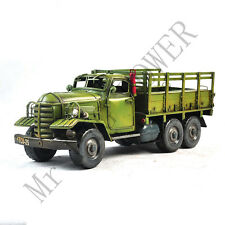 Handmade 1956-86 CA-30 Jiefang Military Truck Tinplate Antique Style Metal Model