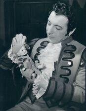 1944 Press Photo Opera Singer Ezio Pinza Holds Good Luck Doll Figaro Jr