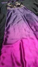 MONSOON Ombre Purple Pink Embellished Halter Neck Maxi Occasion Dress UK10 EU 38