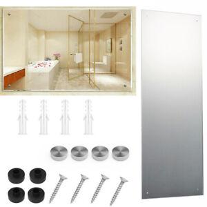 Large Long Bathroom Mirror Unframed Plain Wall Mounted Glass Rectangle 110x45CM