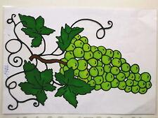 Window Color Fensterbilder Weintrauben helle Früchte