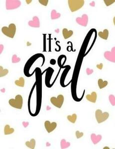 It's a Girl: Baby Shower Guest Book Sign In/Guest Registry with Gift Log, F...