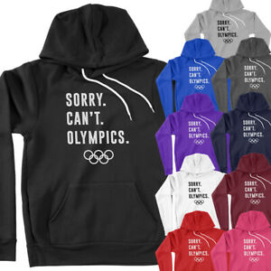 Sorry Can't Olympics Watch Party Summer Games 2021 Sports Fan Pullover Hoodie