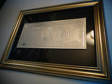 Rare, $2 Dollar Silver Bill Framed. Great collectible gift item with black back.