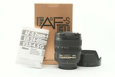 Nikon Nikkor 24-85mm F/3.5-4.5 AF-S ED G Lens - Boxed with Hood and F/R Caps