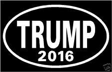 Set Of 2 Oval DONALD TRUMP 2016  Vinyl Decal Sticker Car Window Bumper  FREE S/H