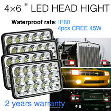 4pcs 4x6 LED HEADLIGHT Kenworth GMC Peterbilt  CREE LIGHT BULB H4651 H4656 H4666