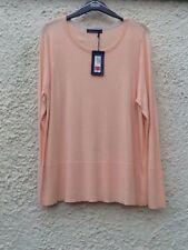 M&S Collection Coral Peach Long Sleeves Cotton-mix Jumper Top Size 18 BNWT
