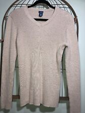 Basic Editions Gold Metallic Threads Top Sweater Women's XL 16-18