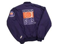 Vintage Phoenix Suns Bomber Jacket Mens Medium 80s 90s Nba Button Up