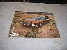 1971 Chevrolet Monte Carlo Dealership Sales Brochure