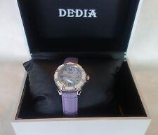 DEDIA Lily L Women's Diamond Mother of Pearl Swiss Watch purple NEW $1,495