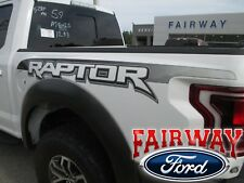 2017 F-150 RAPTOR OEM Genuine Ford Bedside Emblems Decals Pair of 2 in Ebony NEW