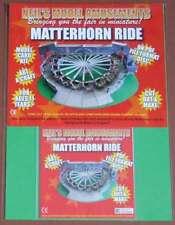 Fairground Matterhorn Ride Model Card Kit on PDF Disc + A4 Card