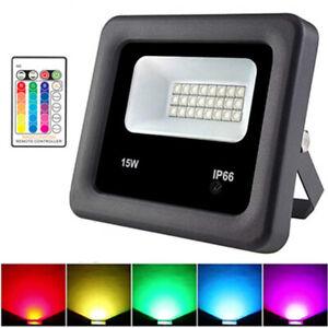RGB 30W LED Fluter Flutlicht Außenstrahler IP66 Dimmbar Scheinwerfer Lampe DHL
