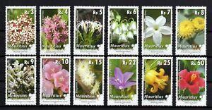 Mauritius 2009 Blumen Satz Postfrisch.