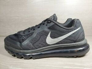 Nike Air Max 2014 Black Silver Model 621077-001 Men's Size 8.5 Athletic Shoes(b6