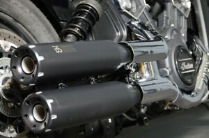 2 SILENCIEUX BS EXHAUST BLACK euro5 INDIAN SCOUT / BOBBER