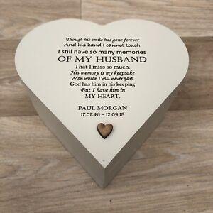 HUSBAND MEMORIAL PERSONALISED ANY NAMES Bereavement Gift IN MEMORY OF