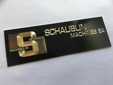 Schaublin Badge For Tool Box Or Drawer