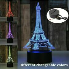 3D LED Illusion USB 7 Colors Bedroom Table Night Light Lamp - Eiffel Tower