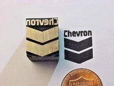 CHEVRON Corporation Gas Stations Sign Logo Oil Gasoline Letterpress Printers Cut