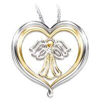 site Kreativ 925 Silber Liebe Engel Diamant Anhänger Halskette Malang xkj