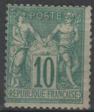 "FRANCE STAMP TIMBRE N° 65 "" SAGE 10c VERT TYPE I "" NEUF x TB K704"