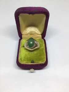Luscious Gents Estate Jade- 14 K. Y. Gold Ring