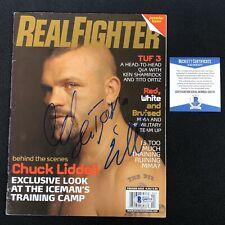 """Chuck """"Iceman"""" Liddell Signed UFC Real Fighter Magazine Beckett COA"""