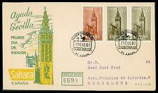 SAHARA FDC 1963 ARCHITEKTUR AYUDA SEVILLA cf98