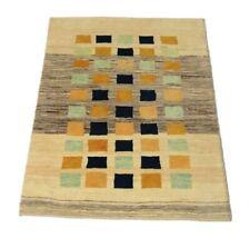 Persischer Gabbeh 140 x 98 cm, Moderner handgeknüpfter Orientteppich, Beige Neu