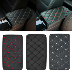 Car Leather Armrest Mat Box Center Console Pad Cushion Cover Car Accessories