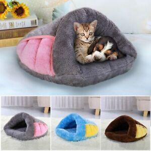 Dog Bed Kennel Soft Warm House Plush Cave Cushion Puppy Sleeping Slipper Bag