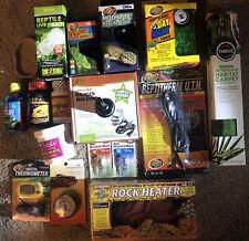 Reptile/Amphibian Set Up- Heat Pad, Lamp, Bulbs, Timer, Heat Rock & More!