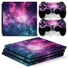PS4 PRO Console & 2 Controllers Galaxy Space Vinyl Skin Wrap Decal
