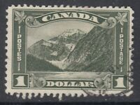"Canada Scott #177  $1.00 Mt. Edith Cavell  ""Leaf""   F"