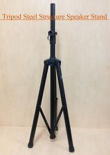 Height Adjustable Haze SS005 Steel Structure Speaker Stand, Tripod foot, Black