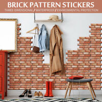 Wall Stickers DIY 3D Brick Pattern Panel PVC Decal Home Room Kitchen Decor
