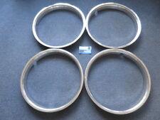 4 Radkappen/Zierringe aus Edelstahl in 15 Zoll