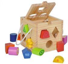 Eichhorn Holz Steckwürfel Steckspiel Steckbox Spielzeug 13 Teile Motorik/NEU/