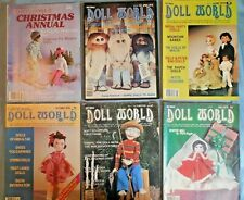 """Euc Lot of 6 Vintage """"Doll World"""" Magazines All with Paper Dolls: 1978-80"""
