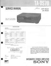Sony original Service Manual para ta-DS 70