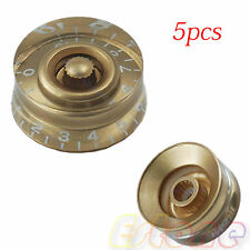 New Golden Speed Control Numbers Knob For Gibson Les Paul Electric Guitar 5pcs
