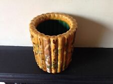 Antique Chinese Glazed Brush Pot In The Form Of Bamboo Sections