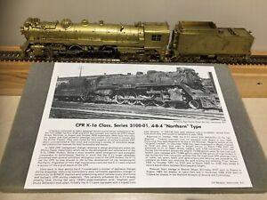 """VH Models Samongsa HO Brass CPR """"3100"""" K1A Class 4-8-4"""