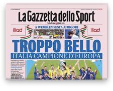 La Gazzetta Dello Sport 12/07/2021 Italia Campione Troppo Bello
