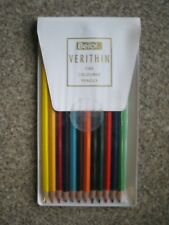 Berol Verithin Coloured pencil, set of 12 different colours in wallet