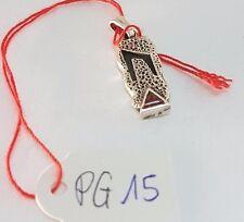 PG15 Vintage Designer 925er Silber Anhänger mit einem Rubin / Modernist