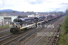 "Ney York Central RR 2528 2530  North Adams Junction Mass   May 30 1965  *4x6""***"